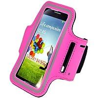 Stile compatto Slim Fit Hot Pink Correre copertura della cassa del bracciale per i9500 Samsung Galaxy S4 SIV