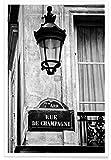 """JUNIQE® Poster 60x90cm Schwarz & Weiß Paris - Design """"Rue de Champagny"""" (Format: Hoch) - Bilder, Kunstdrucke & Prints von unabhängigen Künstlern entworfen von Magdalena Martin Photography"""