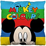 Arditex WD8349 Mickey Coussin Réversible Polyester Multicolore 35 x 35 cm