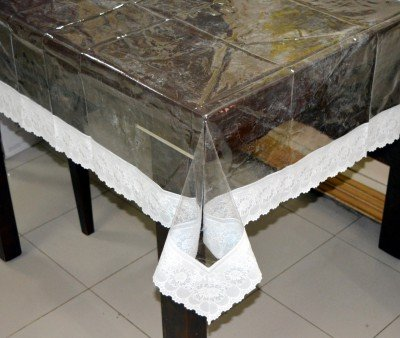 493e934f1 Kuber Industries PVC 4 Seater Transparent Centre Table Cover - White ...