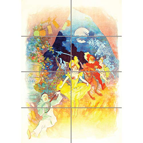 ainting French Carnival Music Dancing Wand Kunst Multi Panel Poster drucken 33x47 inches ()