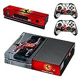 Formula 1 F1 Ferrari Scuderia Xbox One Skin Sticker Vinyl Aufkleber Schutzfolie zum Konsole & 2 Controller NEU