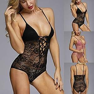 Marico Nahum Frauen-einteiliges Kleidungsstück-reizvolle Wäsche-Overall-Spitze-Bodysuit-reizvolle Unterwäsche