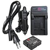 Chargeur 2 en 1 + 1 batterie DURAGADGET pour PNJ AEE MAGICAM SD18, SD19, SD21 / SD21G, SD23 (Naked) & 23G, et SD100 caméra de sport/action - adaptateur secteur + voiture