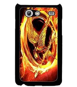 ColourCraft Flaming Eagle Design Back Case Cover for SAMSUNG GALAXY S ADVANCE I9070