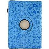 """Theoutlettablet® Funda de diseño original Azul de dibujos y función Giratoria para Tablet Woxter QX 103 / QX 105 / SX 100 / SX 110 / SX 200 / ZEN 10 10.1"""""""