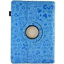 """Funda con diseño original con dibujos y función Giratoria para Tablet Wolder Mitab Cleveland / Vermont / Arizona / Colors 10.1"""" - AZUL DIBUJOS"""