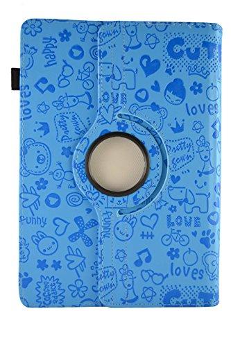 rehfunktion Zeichnungen für Tablet Samsung Galaxy Tab 210,1, Blau mit Zeichnungen (Samsung Galaxy Tab 2 10 1 Case)