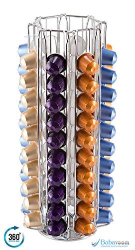 Drehbarer Kapselhalter für 80 Nespresso Kapseln (KRUPS) von unübertrefflicher Qualität| Babavoom® N80