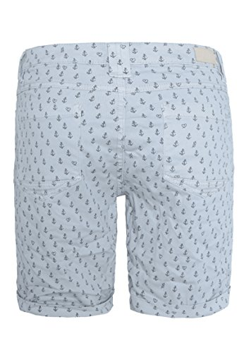 Urban Surface Damen Bermuda Shorts | Bequeme kurze Stoffhose aus Stretch-Twill - Loose Fit Light-Blue