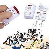 Giantree Wireless Home Security Alarm Infrarot-Sensor Anti-Diebstahl-Bewegungsmelder mit 2 Fernbedienung