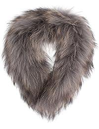 Oakwood cuello de piel de mapache con caja de regalo 529 gris