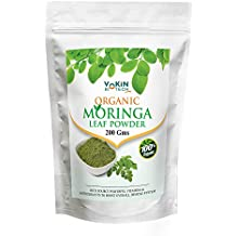Vokin Biotech Organic Moringa (Olifera) Leaf Powder- Powerful Vitamins & Antioxidants (200 GM)