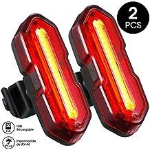9586f544f5ab1 TOPELEK Luz LED Trasera Bicicleta Potente  2 Paquetes  Impermeable Luz Rojo Bici  de 5