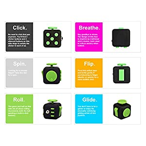 Fidget Cube 6 Sided Fidget Toys Cube Relieves Stress And Anxiety for Children and Adults