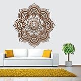wandaufkleber wandtattoos Ronamick Mandala Flower Indische Schlafzimmer Wandtattoo Kunst Aufkleber Wand Home Vinyl Familie Wandtattoo Wandaufkleber Sticker Wanddeko (Braun)