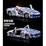 "Sport Auto Modell Auto parfum Crystal - verzierte Sportwagen Modell auto Duft Sitz Auto Ornamente, Blau ""Jasmine"""