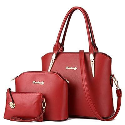 Tibes sac femmes élégantes en faux 4pcs de la bourse en cuir mis en sac à main