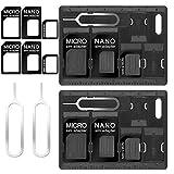 CKANDAY 2 Packs SIM-Kartenhalter mit Fachöffnerstiften, Karten-Aufbewahrungs-Werkzeug-Set für...