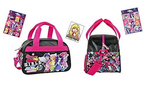 (My little Pony - Equestria Girls - Reise-Tasche/Sporttasche / Kindergarten-Tasche (34 x 22 x 21 cm) + 16 Equestria Girls Sticker)