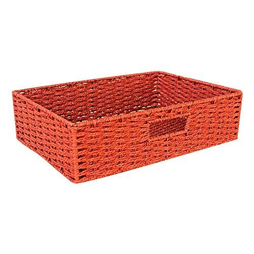 , leichte, robuste stapelbare Papierseile, die tragbare Behälterbox ohne Deckel weben (Farbe : Red) ()