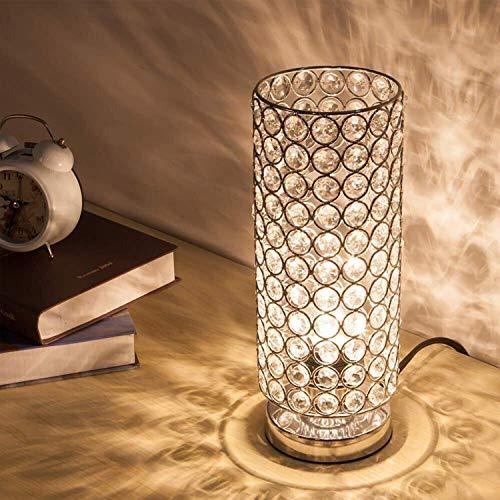 EFGS Crystal Tischlampe, Modern Style K9 Kristall Schreibtischlampe, 28 cm Hoch Elegante Kristall Licht, Kompakte Design Lampen Geeignet Für Zuhause, Schlafzimmer, Wohnzimmer, Esszimmer (Splitter) - 28 Cm Hoch Tischlampe