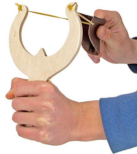 Zwille Echt-Holz Profi-Zwille Sport-Schleuder Schleuder Katapult Stein-Schleuder Katschi Slingshot 18cm