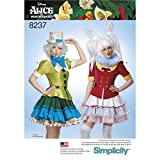 Simplicity Disfraz de Misses' Alice in Wonderland, Patrón 8237, para Cosplay, Color Blanco