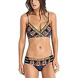 iBaste Damen Sexy modern Stoffdruck Bandage Design Zum Binden Ethno Badeanzug Bikini-Sets