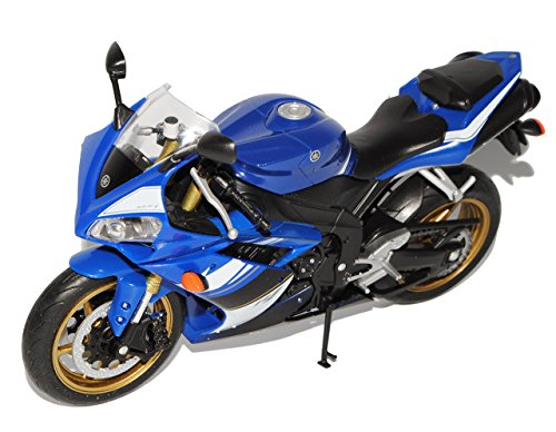 Welly Yamaha YZF-R1 Blau 1/10 Modell Motorrad mit individiuellem Wunschkennzeichen