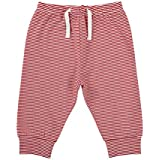 Stephan Baby Sweat Pants-Style Diaper Cover, Red And White Stripes, 6-12 Months