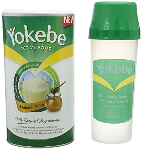 Yokebe Natural Honey Weight Loss Shake Plus Shaker -10 Portions by Yokebe