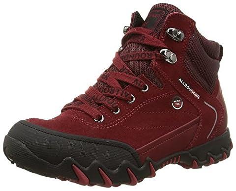 Mephisto Nigata, Chaussures de Randonnée Hautes femme, Rot (BLACK/MID RED), 37 EU