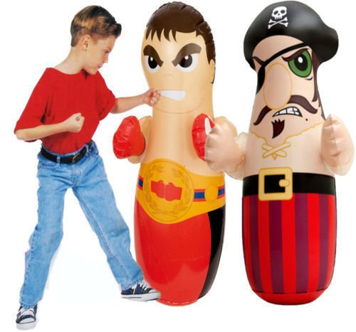 Intex Hit Me 3D Inflatable Funny Punching Bop Bag Boxer (Pirate Boy)