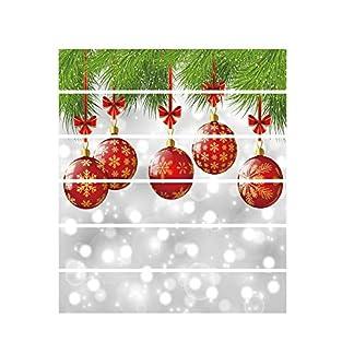 LUNULE Navidad Pegatinas Ventana de Pared, DIY Removible Vinilo Adhesivo Feliz Navidad Santa Claus Árbol de Navidad Decoración del hogar impermeables Pegatinas de escalera de simulación 3D de Navidad