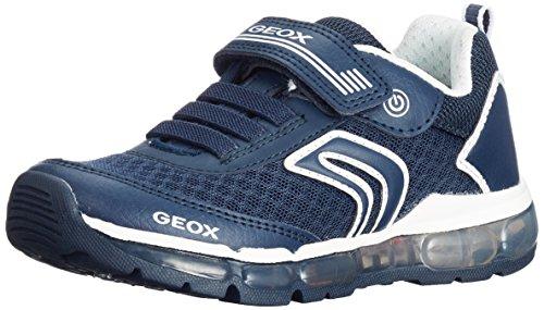 Geox Jungen J Android Boy A Sneaker, Blau (Navy), 34 EU