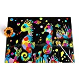 1 STÜCKE Farbe DIY Coil Scratcher - Kinder Scratch Regenbogen Scratch Kunstdruckpapier Magie Reißbrett (Stil zufällig)