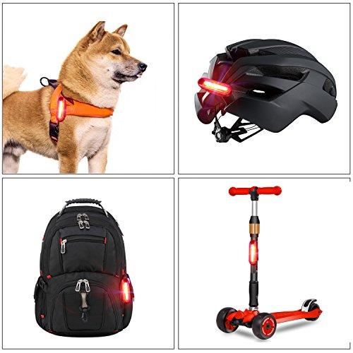 MACHFALLY Fahrradbeleuchtung, Fahrrad Licht LED USB Set mit Automatisch Einstellbarer Helligkeit, Wasserdichte Fahrradlampen inkl. Frontlicht und Ruecklicht , 1200 mAh Akku-Fahrradlampen fuer Kinder- , Herren- und Damenraeder (Frontlicht&Ruecklicht Set) - 8