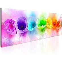 Cuadro en Lienzo 120x40 cm! 1 parte - Impresion en calidad fotografica - Cuadro en lienzo - una pieza flores 020110-78 120x40 cm B&D XXL