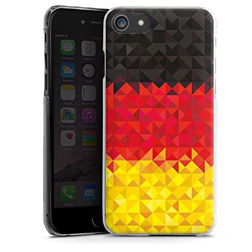 Apple iPhone X Silikon Hülle Case Schutzhülle Deutschland Flagge Dreiecke Hard Case transparent