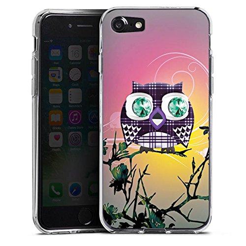 Apple iPhone X Silikon Hülle Case Schutzhülle Eule Eulen Muster Silikon Case transparent