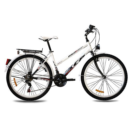 26 KCP CITY BIKE TREKKING BIKE WILD CAT LADY WHITE BLACK   (26 INCH)