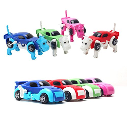Sammlung Transformator-spielzeug (Omiky® Kinder Baby Der Dinosaurier Transformator Neuheit Uhrwerk verformbare Auto Dinosaurier Spielzeug)