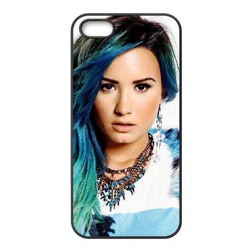 Demi Lovato coque iPhone 5 5S Housse téléphone Noir de couverture de cas coque EBDXJKNBO10613