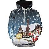 HWTOP Kapuzenpullover Paare Sweatshirt Hoodies 3D Weihnachten Print mit Kapuzen Sweatjacke Top Bluse Shirts Trainingsanz
