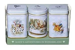 Alice nel Paese delle Meraviglie. English Breakfast tea - Eglish Afternoon tea - Earl Grey tea. Confezione regalo 3 tè