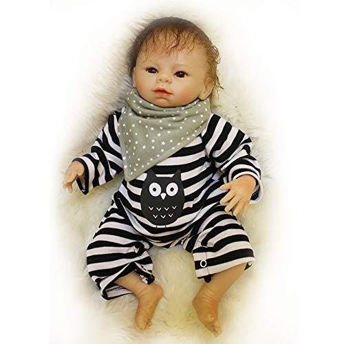 668ec1d88de7a5 Nicery Reborn Baby Doll Soft Simulation Silicone Vinyl 20inch 50cm Magnetic  Mouth Lifelike Vivid Boy Girl