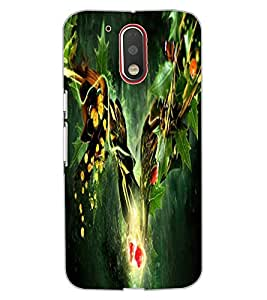 ColourCraft Abstract Image Design Back Case Cover for MOTOROLA MOTO G4 PLUS