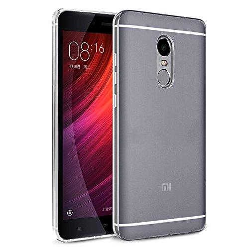 Funda Xiaomi Redmi Note 4, Orlegol Redmi Note 4 Slim Silicona Case Cover Funda [Ultra-delgado] [Shock-Absorción] [Anti-Arañazos] Carcasa Case para Xiaomi Redmi Note 4 - Transparent