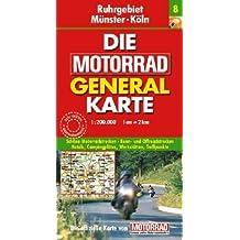 Motorrad Generalkarte Deutschland Ruhrgebiet, Münster, Köln 1:200 000